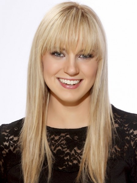 Long Straight Synthetic Blonde Hair Wig