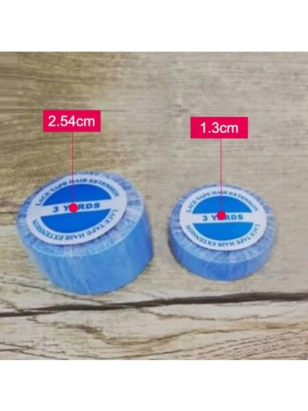 1.3cm * 3yard Lace Front Support Tape Blue Liner Roll For Lace Wig