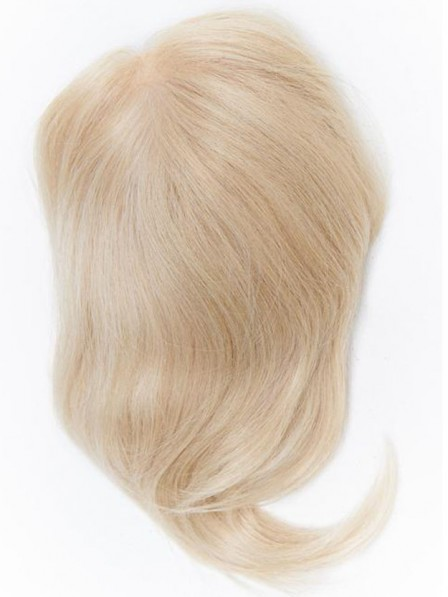 100% Human Hair Blonde Mono Top Piece