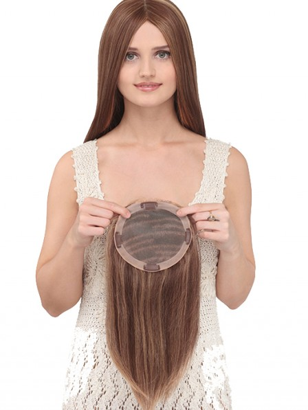 16 inch 100% Human Hair Mono Top Piece