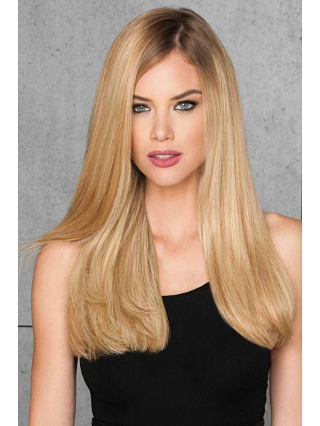 100% Real Hair Wig Long Straight Lace Front Mono Top Wig