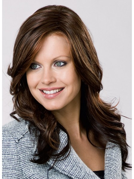 Dark Brown Synthetic Hair Wig with Wave