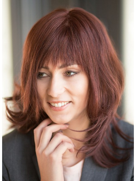 Lace Front Mono Top Natural Red Human Hair Wig