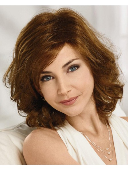 Long Bob Wig With Lightly Tousled Curls And A Comfortable Stretch-To-Fit Cap