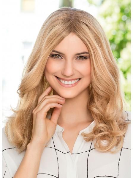 Long Natural Wavy Blonde Human Hair Lace Front Wig