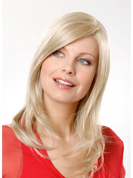 Medium Blonde Straight Heat Friendly Synthetic Hair Wig