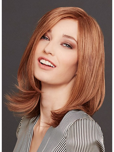 Medium Straight Human Hair Lace Front Bob Wig
