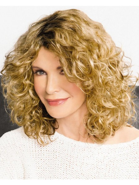 On-Trend Curly Wig With Shoulder-Length Layers Of Airy Bouncy Spirals