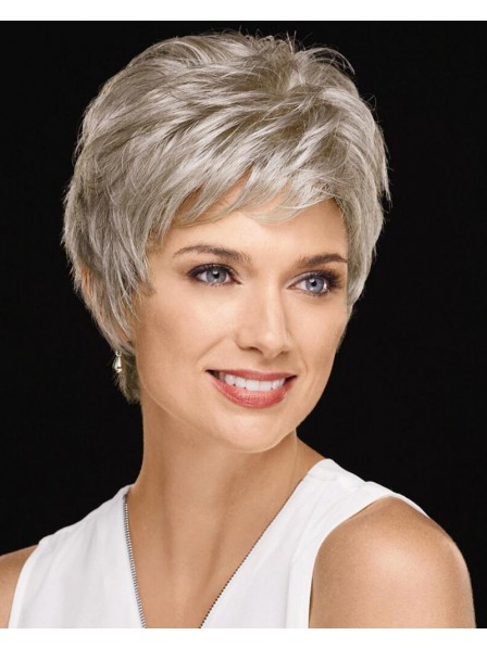Picture-Perfect Pixie Wig With Texturized Layers And A Feathered Nape