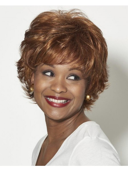 Sassy Shag-Inspired Wig With Texturized Layers And Flicked Ends