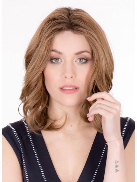 Shoulder Length Natural Wavy Human Hair Wig