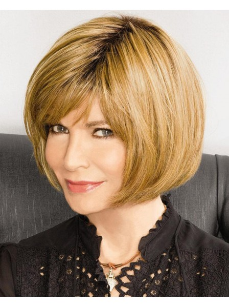 Super Chic Bob Wigs With Chin Length Layers In Heat