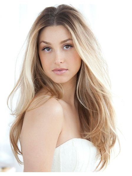 Young Long Blonde Lace Front Human Hair Wig
