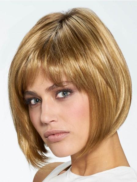 Chin Length Cut Synthetic Hair Bob Style Wig