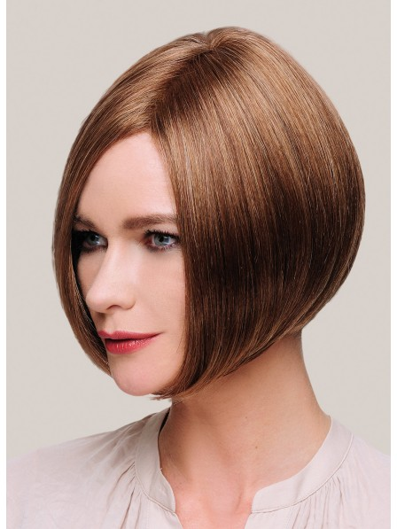 Chin Length Light Brown Lace Front Mono Top Hair Wig