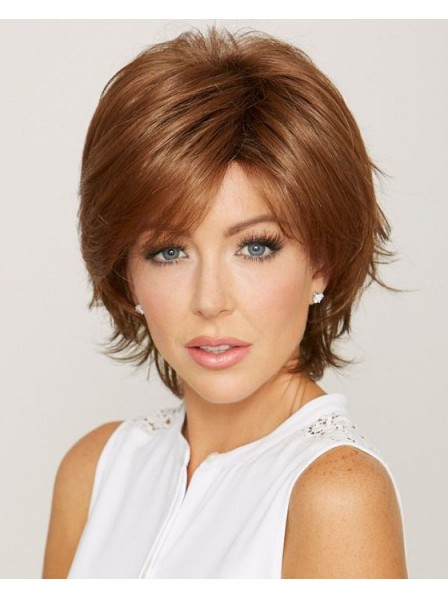 Chin Length Synthetic Capless Wig with Layers