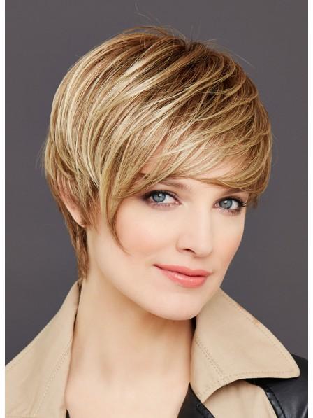 Fashion Short Straight Blonde Capless Wig