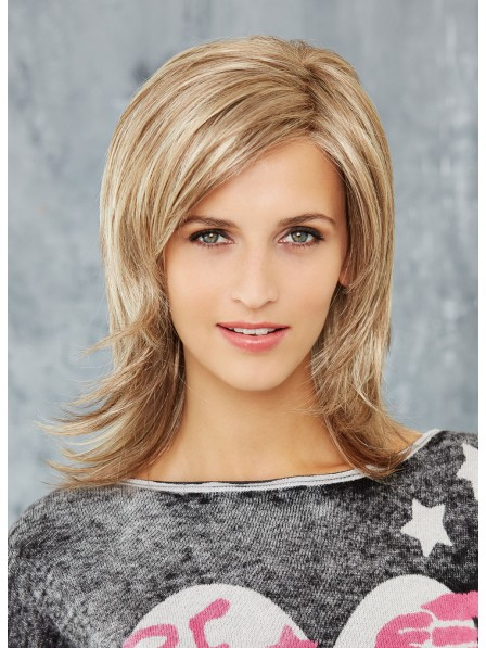 Lace Front Ladies Shoulder Length Shag Cut Wig