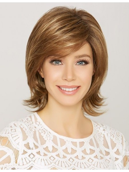 Medium Synthetic Shag Hair Wig with Side Bangs