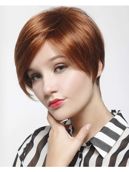 Natural Look Short Synthetic Mono Top Wig