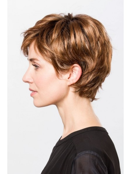Short Boy Cut Women Synthetic Hair Wigs b40bdd69b0