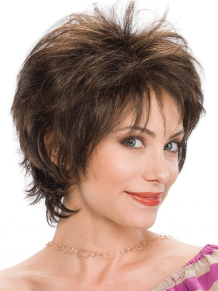 Short Feather Cut Style Ladies Wigs
