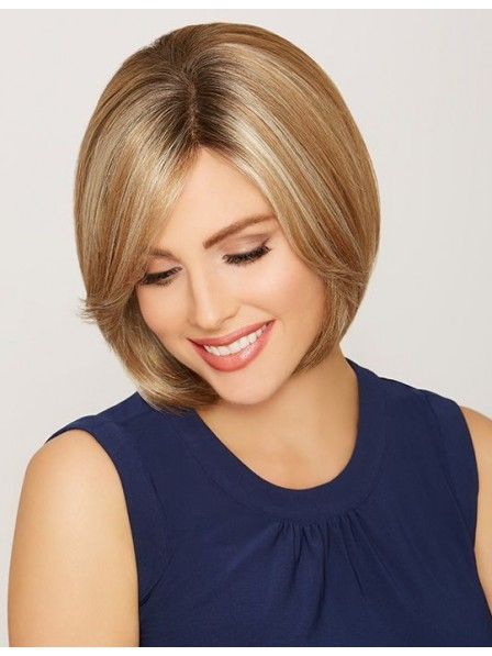 Smooth Sleek Lace Front Mono Top Human Hair Bob Wig
