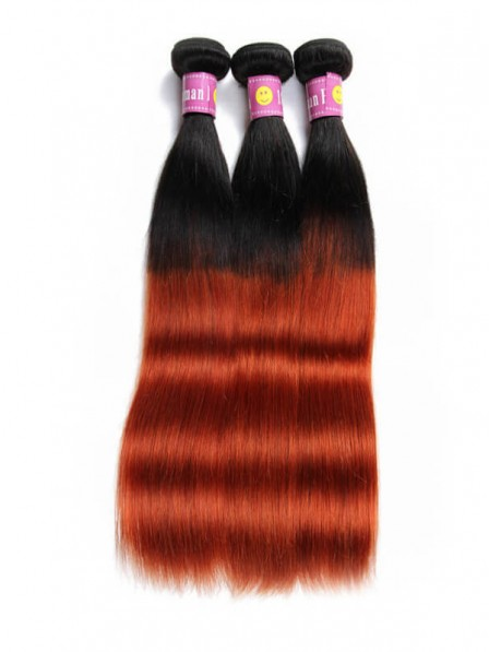 1b 350 Color Brazilian Ombre Hair Straight Bundles Human Virgin Hair Weave