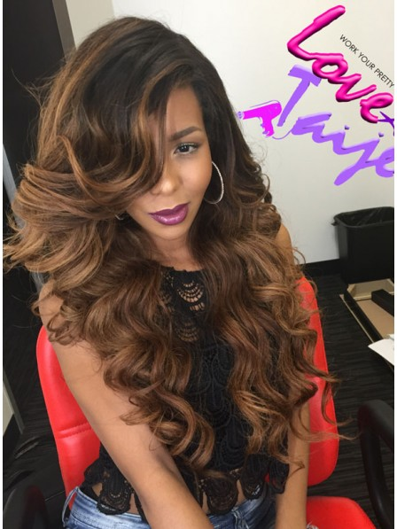 200% Density Balayage Lace Front Wig
