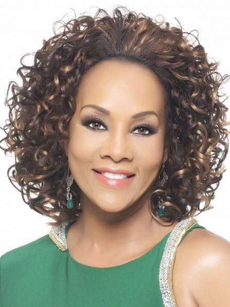 3/4 Short Curly Synthetic Hairpiece Wig