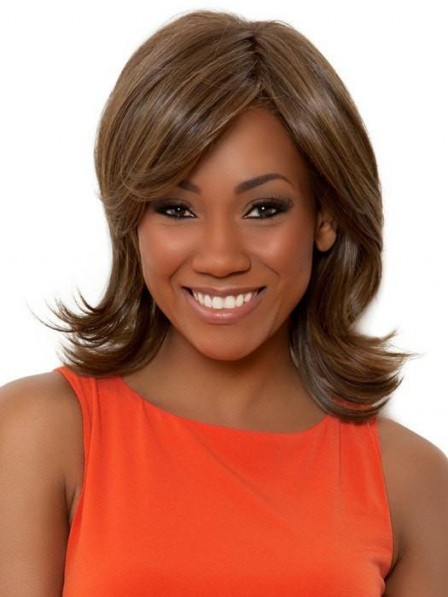 African American Layered Shoulder Length Women Wigs