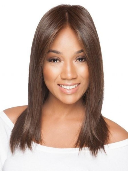 African American Long Straight Lace Front Wig