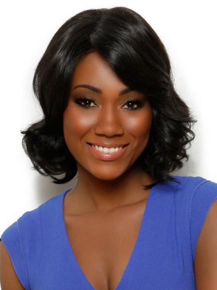 African American Loosely Waved Lace Front Wig