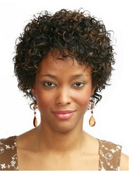 Afro Short Synthetic Hair Wigs Natural For women
