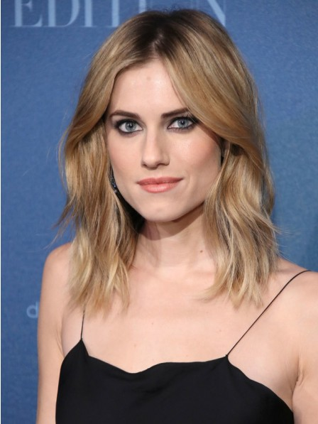 Allison Williams Stylish Full Lace Blonde Human Hair Wigs