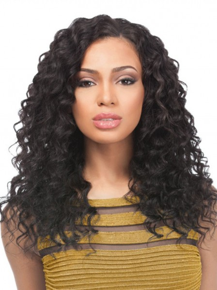 Antique curly capless synthetic black hair wigs for black women