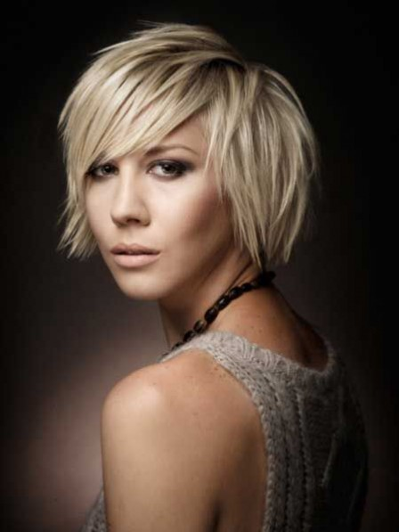 Awesome Full Lace Synthetic Celebrity Short Blonde Wigs