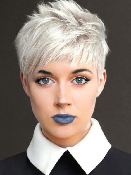 Awesome White Pixie Cut Ladies Wig
