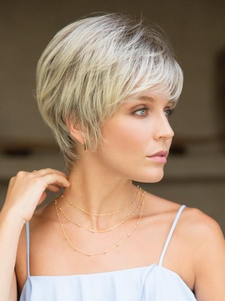 Beautiful Natural Looking Short Grey Hair Wig