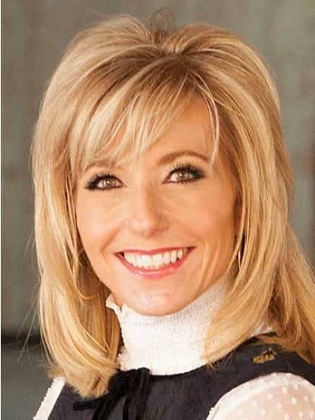 Beth Moore Capless Blonde Straight Medium Synthetic Hair