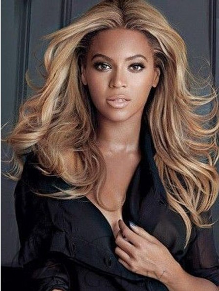 Beyonce Middle Parted Layered Long Wave Synthetic Lace