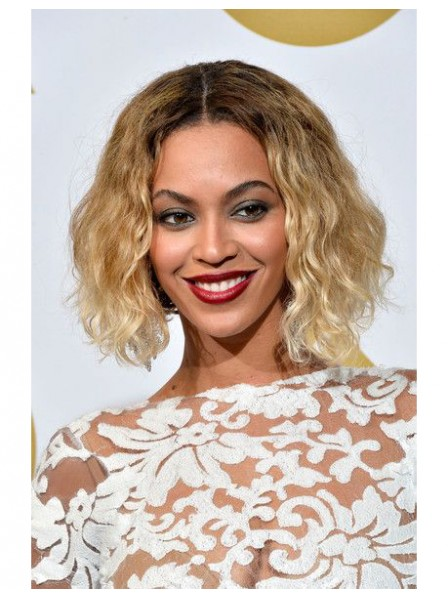 Beyonce's soft sexy water wavy bob hairstyle wigs