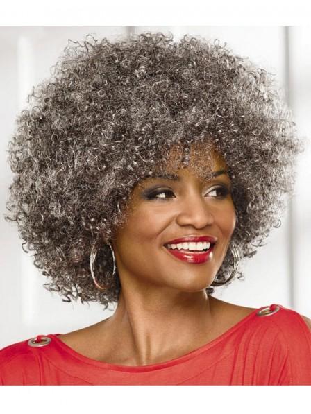 Big Afro Women's Capless Grey Wig