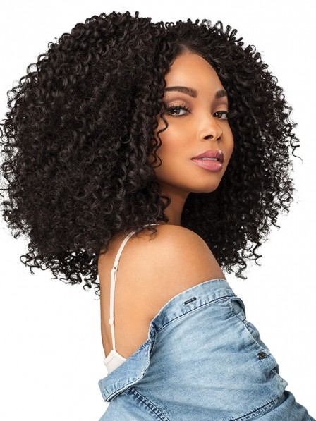 Black women's big afro synthetic curly hair wigs