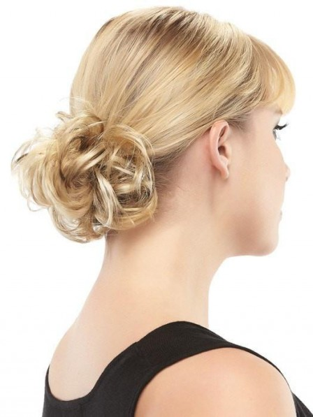 Blonde Curly Synthetic Ponytail Wrap
