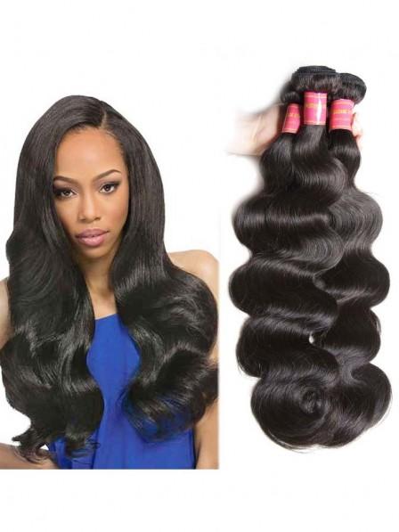 75d0ebb78 Virgin Malaysian Body Wave Hair 3 Bundles Deals Human Hair Weave ...