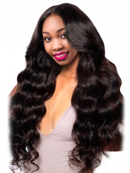 Brazilian Body Wave Pre Plucked Full Lace Human Hair Wigs With Baby Hair Natural Black Non Remy Hair Wigs