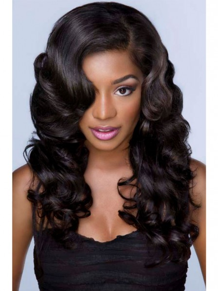 Brazilian human hair curly hair lace front wigs without bangs