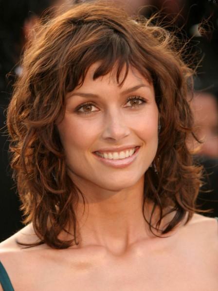 Bridget Moynahan's Shag Layers Haircut Brown Wig