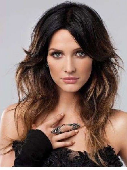 Capless Human Hair Celebrity Long Wigs Fast Delivery
